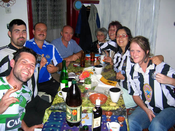 Geordies Drink with the Locals
